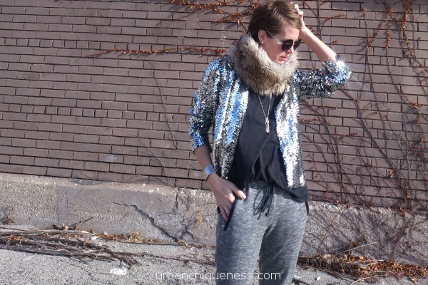 Sequins and sweats