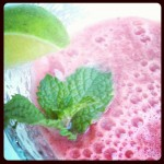 """Chique"" Drink:  Watermelon Lime Mint Icy"